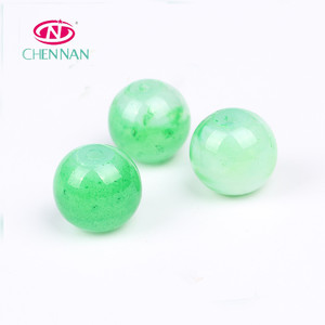 Stunning Hot Sale green Color Glass Beads Smooth Balls beads