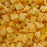 100 % IQF Frozen Yellow Peach Dices