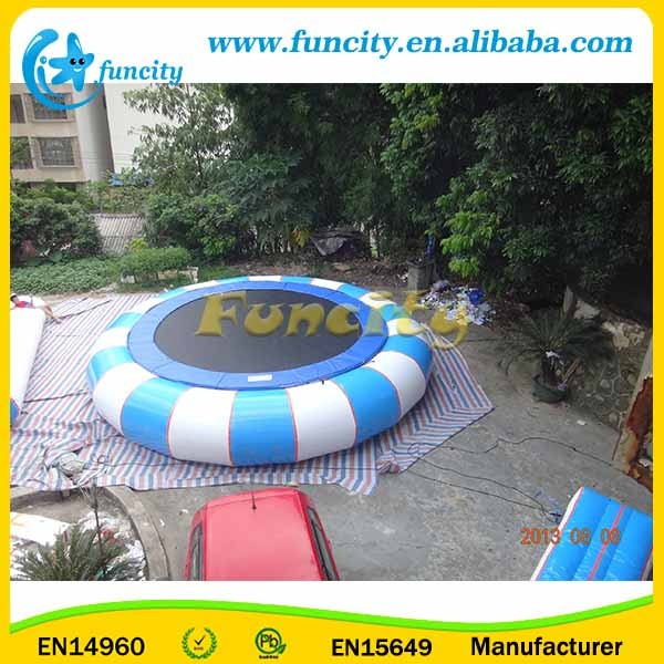 Funny Inflatable Water Combo Tranpoline With Inflatable Blob Toys With EN15960 Certificate