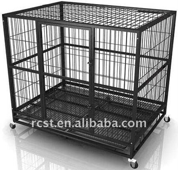 steel dog cage trolley