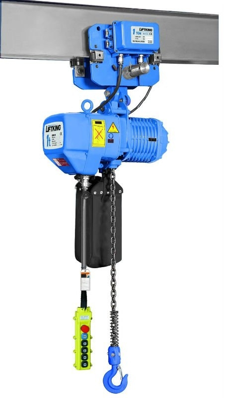 heavy duty lifting equipment , electric construction chain hoist with electric trolley