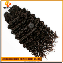 Full cuticle attached smooth cheap virgin Brazilian curly hair virgin hair weft for black women