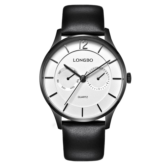 LongBo china watch factory Interchageable calf leather promotional watch
