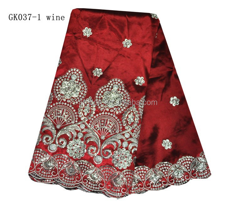 GK037-1 wine new arrival indian george fabric