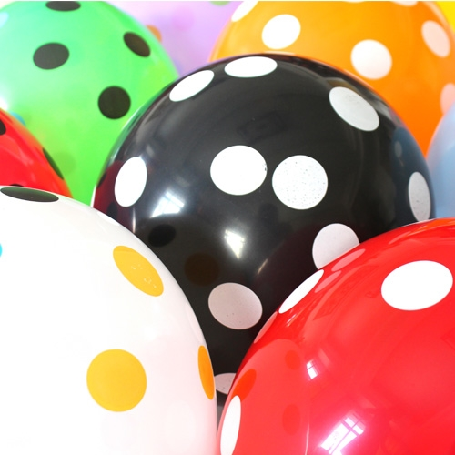 #cute dots# 10 pcs banner-packing 12-inch 2.8g dot printed good quality party balloons
