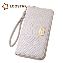 TAQU109 Hot sell new product big banknote clip girl wallet long style snake pattern hand bag