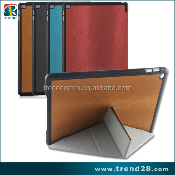 2016 new products transformer stand leather case for ipad air 2