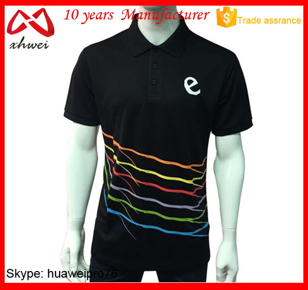 Trendy mens sublimation stripe 100 polyester polo shirts, polo tshirt