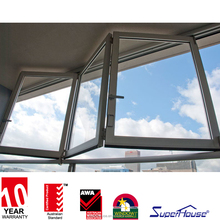 top grade aluminum glass folding window with CAS
