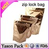 Yason ziplock bags with waterproof reusable ziplock pouch zipper tobacco pouch