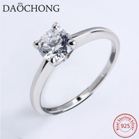 Oem Factory silver Elegent Jewelry Classic CZ Stone pure silver 925 rings,value 925 silver ring for Wedding