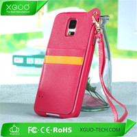 2014 hot new products for samsung s5 leather case with strap