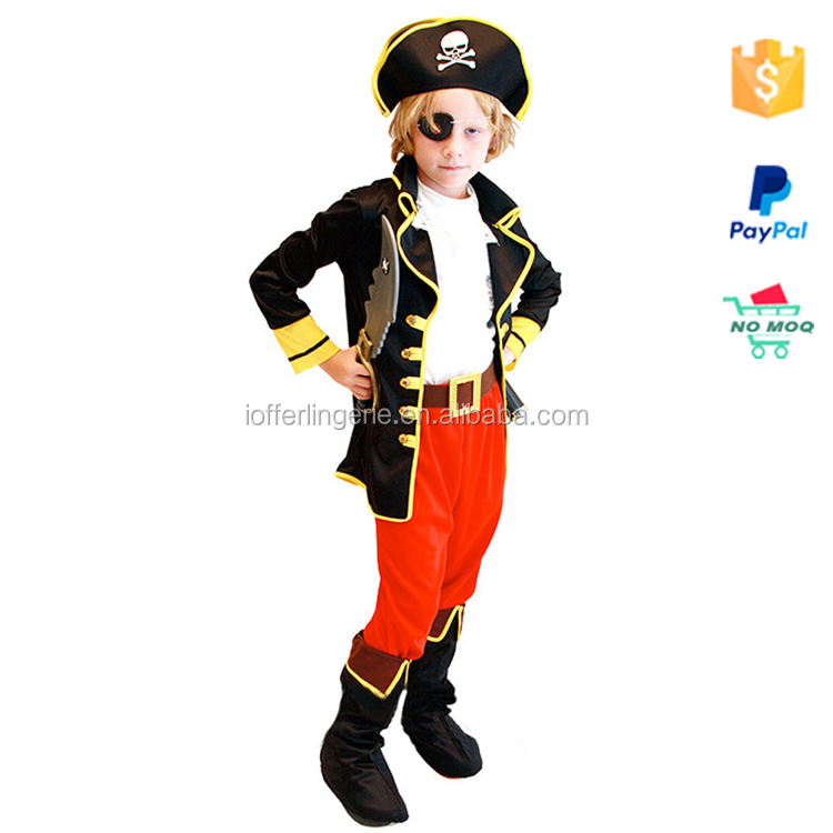 Six-piece Pirates of the Caribbean Captain Kids Halloween Costumes