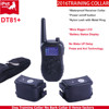Rechargeable and waterproof Dog shock training collar with remote blue Bigger LCD display DT81