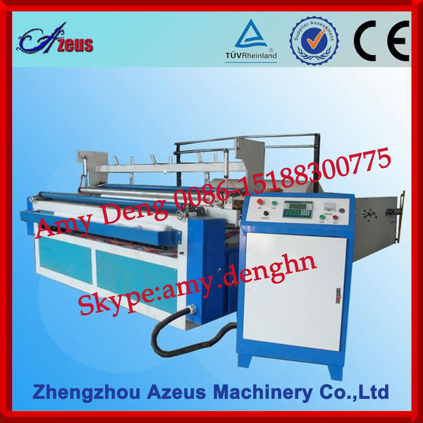 Toilet Paper Rewinding Machine with Embossing Roller