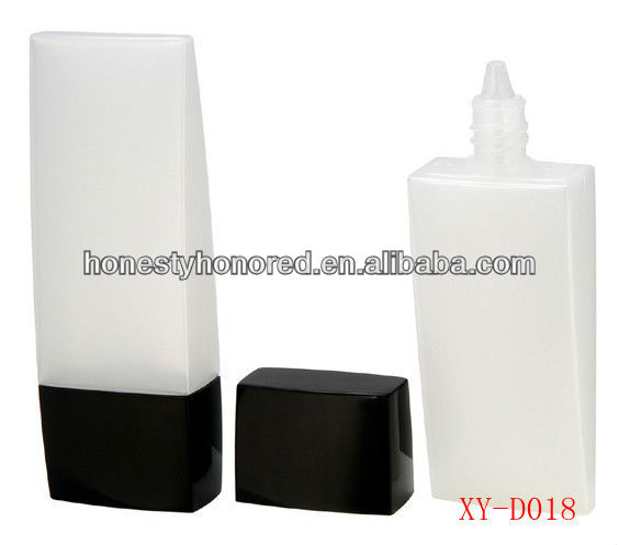 white airless pump bottle liquid foundation container