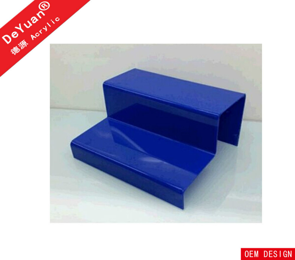 Two Layer Custom Color Acrylic Shoes Displayer