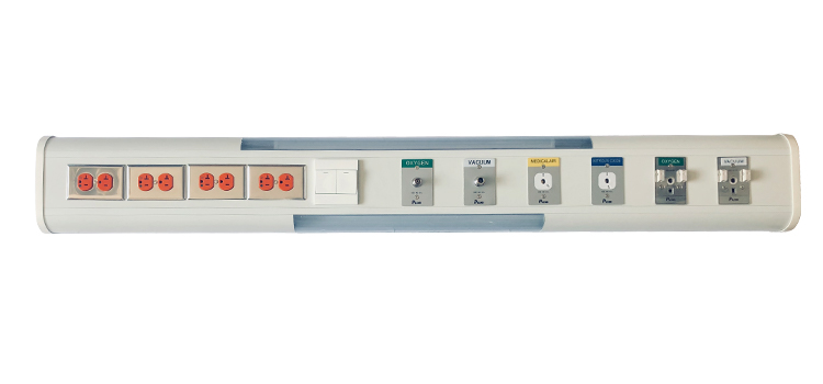 Ward Wall Mounted Bed Head Unit With Gas Outlet