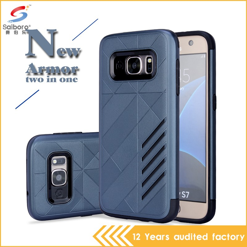 High quality design tpu and pc hard cover for samsung galaxy s7