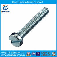 DIN84,ISO10642 zinc plated slotted cylinder head screw,bolt
