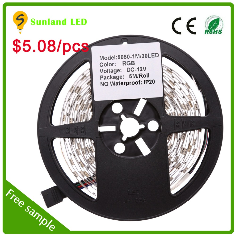 Best quality cheap price 5050 rgb battery powered led strip lights for cars ce rohs approval