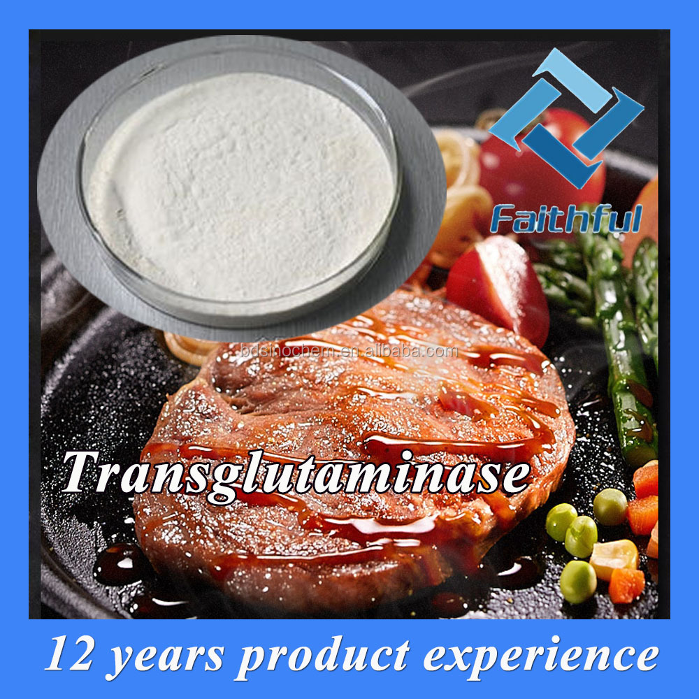 Food additive and ingredient transglutaminase apply on sausage/High Quality Meat Glue TG Transglutaminase