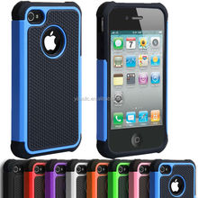 Shock Proof Hybrid Builder Cover Hard Silicone Case for Apple iPhone 4/4S 5S 5C
