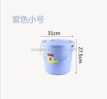 Small plastic water bucket with lid