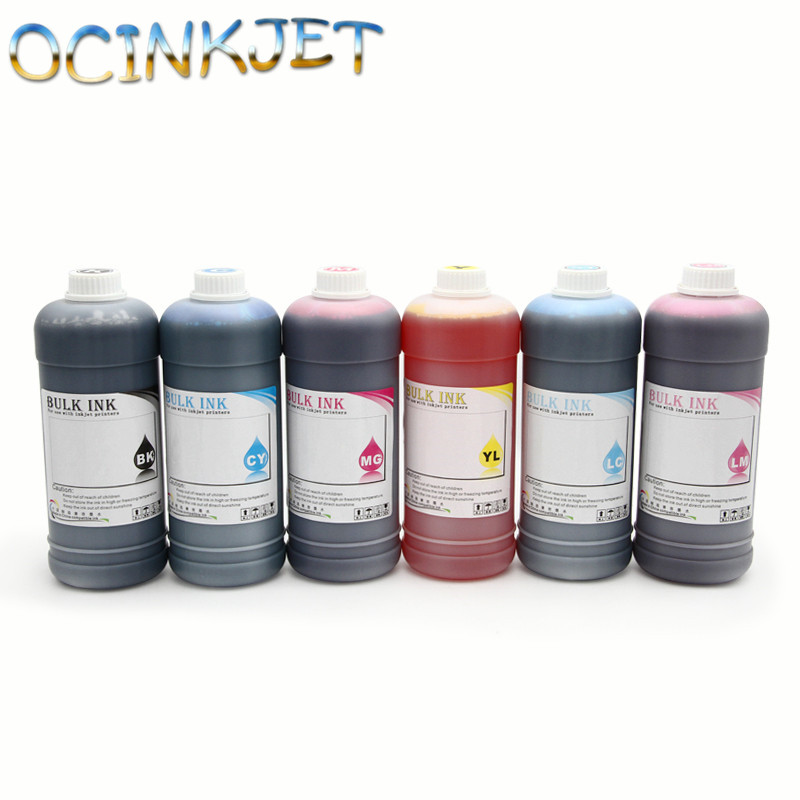 Ocinkjet1000ML6 Colors Genuine Dye Ink For HP Designjet 120 120nr Printer