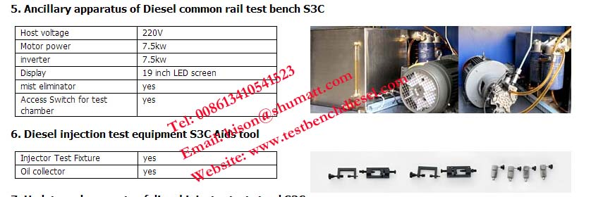 Common Rail test bench S3C for Range of Solenoid and Pie zo amplifiers