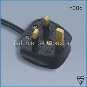 UK assembled power cord