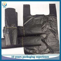 PE high quality extra large side gusset t shirt plastic garbage bag for household