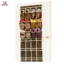24 Pocket Over the Door Hanging Shoe Organizer Large Mesh Storage Pockets