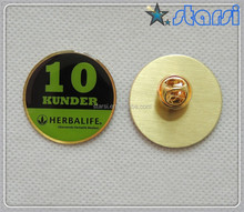 High quality Wholesaler custom copper badge with resin, lapel pin