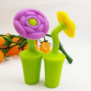 The latest custom silicone rubber wine bottle stopper,with cute & funny silicone rubber wine bottle stopper
