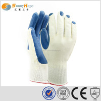 sunnyhope 10G T/C liner blue very safety latex household gloves