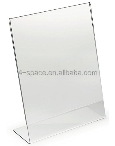acrylic slant sign holder, acrylic table top sign holders , A3 A4 A5 plexiglass L shaped slanted sign holder