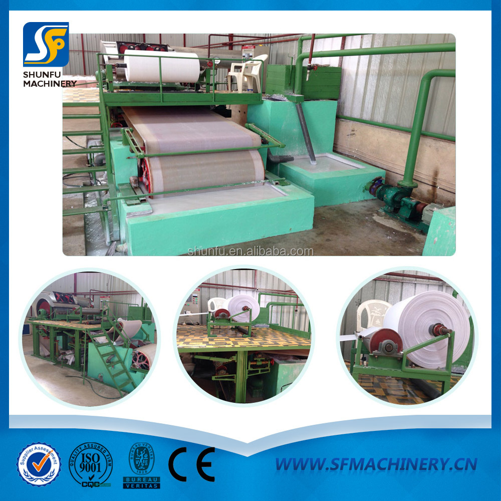 Price Of Automatic Carton Waste Paper Recycling Machine Production Toilet Paper Paper Products
