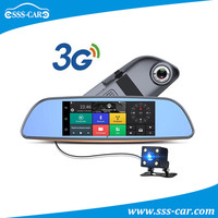 7 inch Android GPS DVR Rearview mirror with 3G function