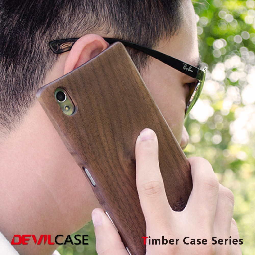 Mobile Phone Natural Wood Timber Case For SONY Android