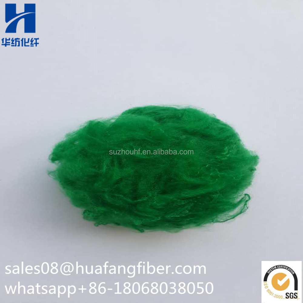 Dope Dyed Recycled Polyester Fiber Textiles Fiber