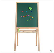 Multifunctional vertical double folding white board for children