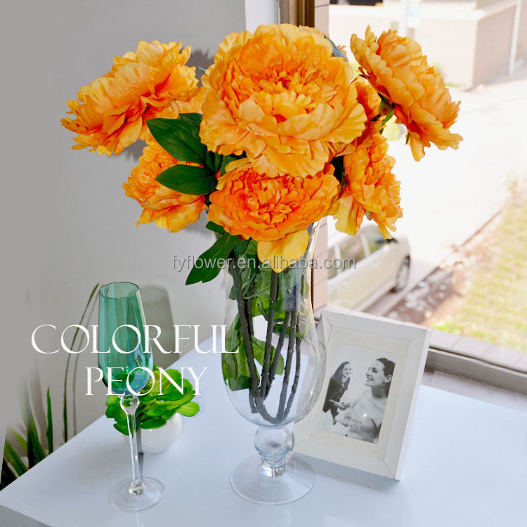 140350 China factory direct sale high quality bulk wedding table decorating peony orange blossom flower