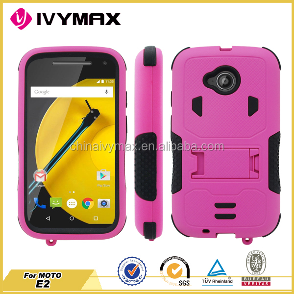 2015 best selling powerful shockproof cell phone case for MOTO E2/E LTE