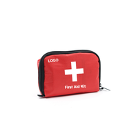 Factory wholesale promotion private label medical waterproof mini travel camping first aid kit