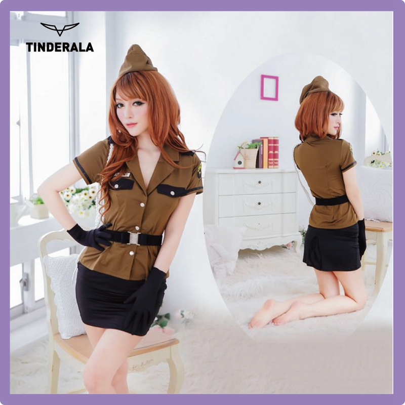 wholesale police uniform shoes and hat women v-neck low bosom sexy officer outfit for sexy ladies