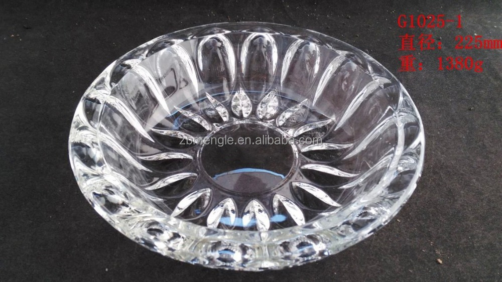 Wholesale cheap clear glass ashtray and round glass ashtray