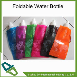 Promo soft custom water bottle,Foldable Water Bottle with Carabiner
