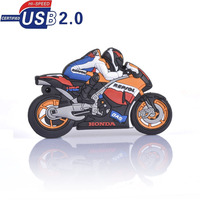 Beautiful 4GB 8GB 16GB 32GB Motorcycle Racer Plastic Model 2.0 USB flash drive pen drive memory stick 100% Real