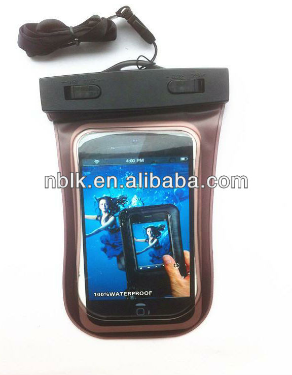 Newest mobile phone pvc waterproof bag